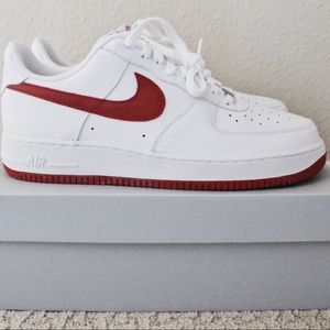 Nike Men's Air Force 1 '07 - White/Red (Size 11)